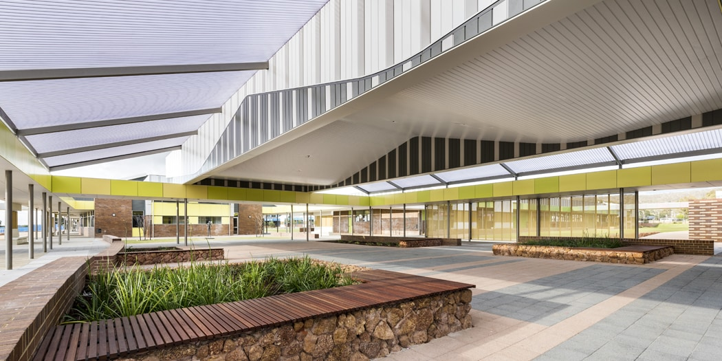 Byford College Interior Cladding, Translucent Polycarb Roof WA