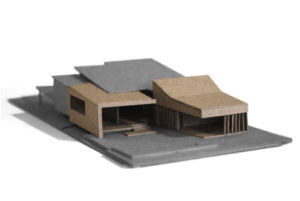 Grange Residence model by Kieran Gaite Architects QLD using Danpalon custom skylights and panels