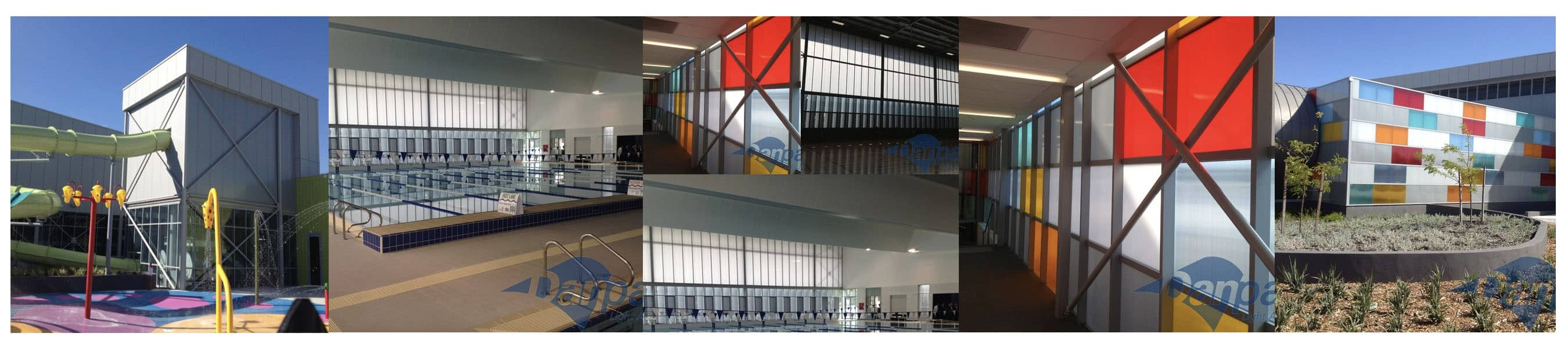 Seamless Polycarbonate Curtain Wall Facade at Cannington Leisureplex, Western Australia