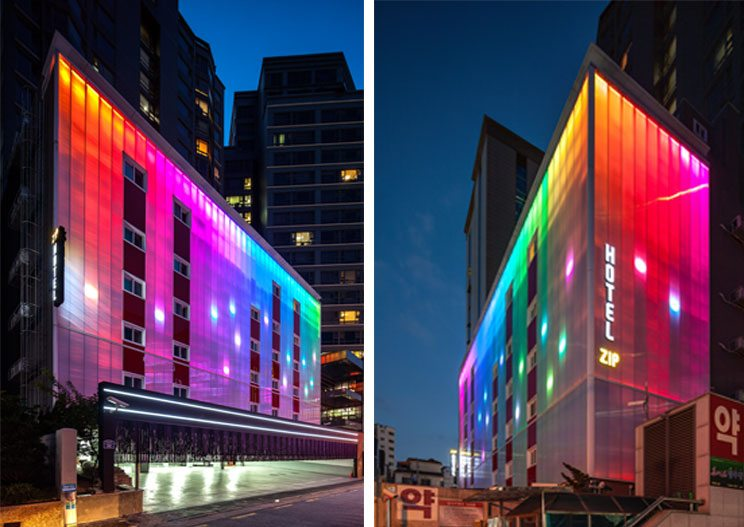 Danpatherm LED Building facades Illuminated walls, rethinking light at night