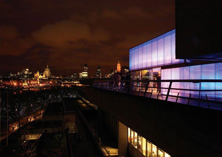 Danpatherm LED Building facades Illuminated walls at night