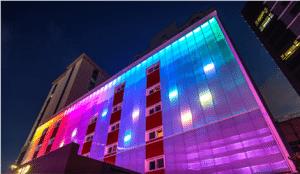 Façade Lighting with Danpatherm LED Building facades Illuminated walls