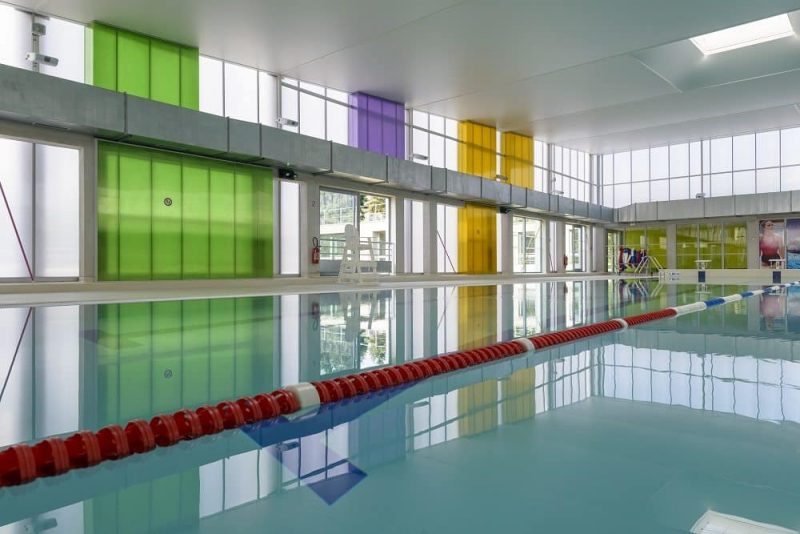 Daylighting System Translucent Facades used in PARK AQUATIC CENTRE VAUROUX, France