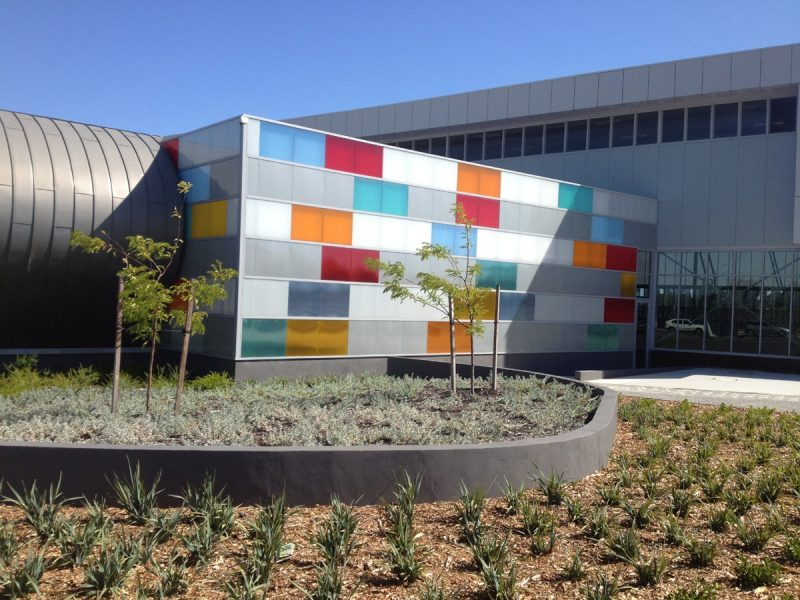 Polycarbonate Danpal Seamless Facades 16mm thick used by Christou Architects at Cannington Leisureplex, Western Australia