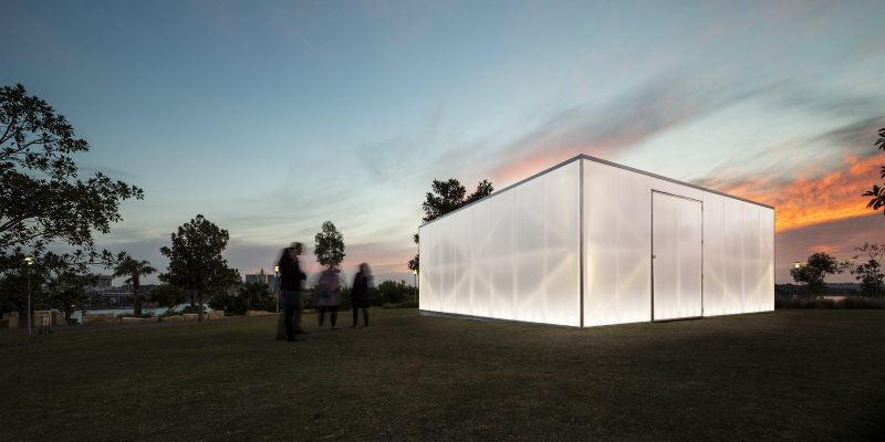 Danpal Polycarb Blak Box Barangaroo Arts Project in Sydney Australia