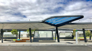 Translucent Tinted Polycarbonate Roofing Panels, Curtin University Bus Exchange, WA