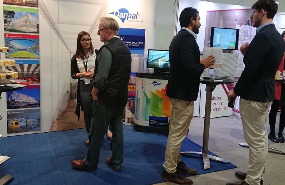 The Danpal team proudly presenting their architectural systems and solutions to architects at the Equinox Expo in Sydney Australia