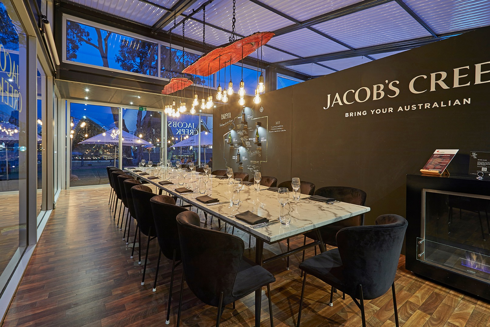 Jacob's Creek is 'Everbright' in Bennelong - Modular Architecture clear Danpal roof panels