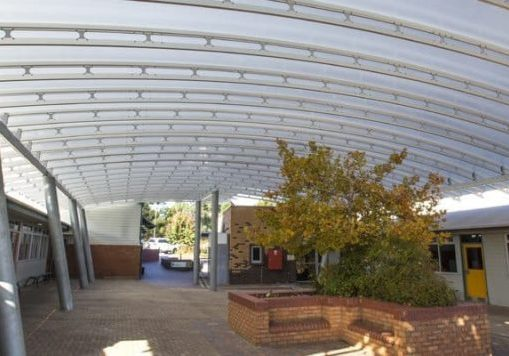 Golden Grove Lutheran Primary School Roofing Danpalon Roofing SpaceTruss, Clear Roof panels with a Thickness of 16mm by Danpal®