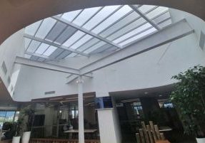 MK Lawyers Polycarbonate Flat Roofing streaming through the Benefits of natural light in the workplace