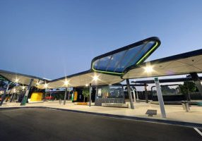Translucent Polycarbonate Roofing Sheets, Curtin University Bus Exchange, WA